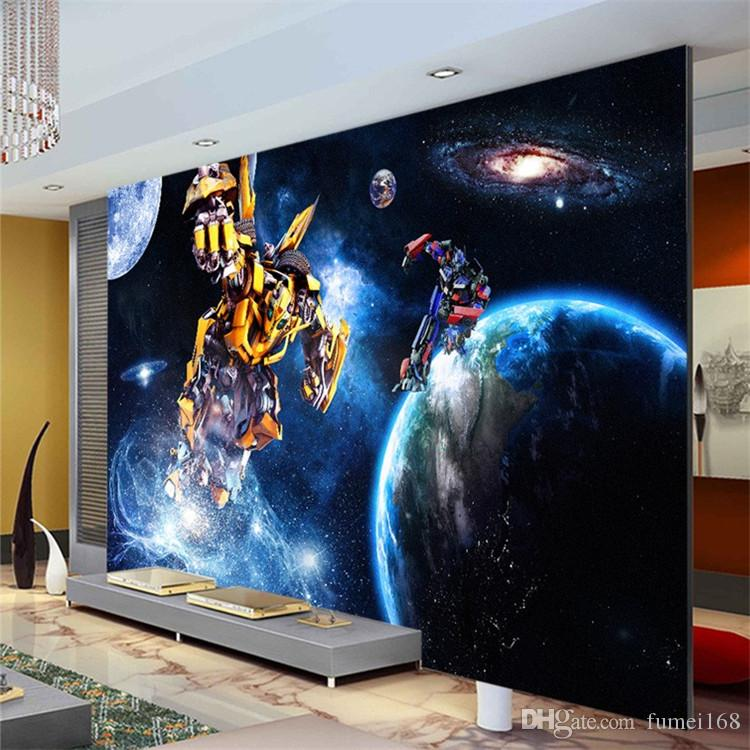 Custom 3d Wallpaper For Walls Galaxy Transformers Photo Wallpaper Starry Sky Wall Mural Boys Bedroom Living Room Wall Covering Cell Wallpapers