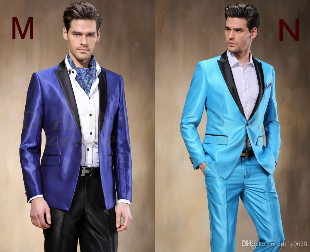 2018 2017 New Arrival Groom Tuxedos 14 Styles Best Man Suit Custom ...