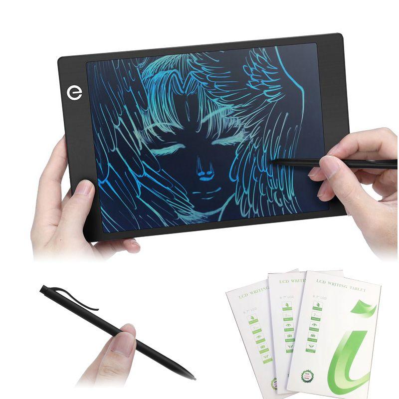 9.7 인치 컬러 LCD 태블릿 드로잉 보드 휴대용 얇은 필기 패드 스타일러스 펜으로 무색 그래픽 타블렛 크리스마스 선물