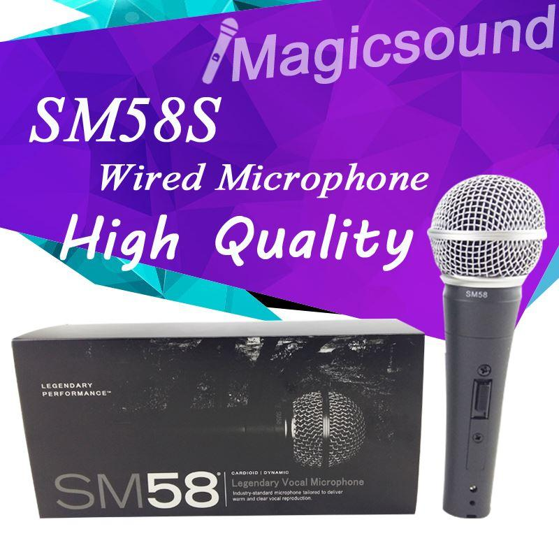 Yeni Yüksek Kaliteli SM58S Kablolu Dinamik Kardioid Mikrofon SM 58 58 S 58SK SM58SK Vokal Mikrofonun Mike Mic ile Anahtarı ON / OFF