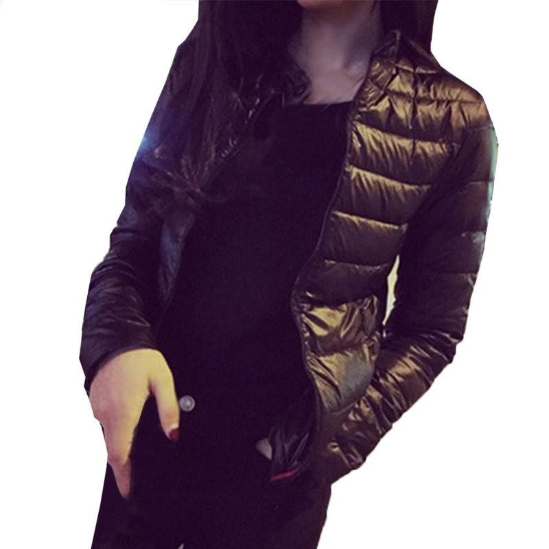 Female Down Coat 2017 Winter Women Europe and America Thin Short Cultivating Outwear Cotton Padded Warm Jacket Outwear