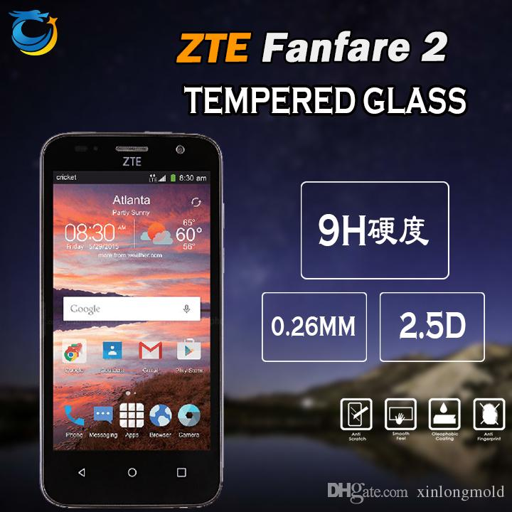 Tempered Glass For ZTE Overture 3 ZTE Fanfare 2 Huawei Ascend XT2 HTC U11  PLUS LG K3 Mobile Phone Screen Protectors With 10 In 1 Package Best  Tempered