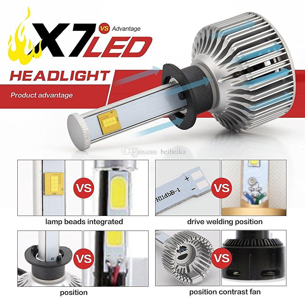 2016 Conversion Kit New Car LED фара - 80w 7200Lm 6K Холодный белый Cree лампы Все в одном Clear Arc-Beam Kit