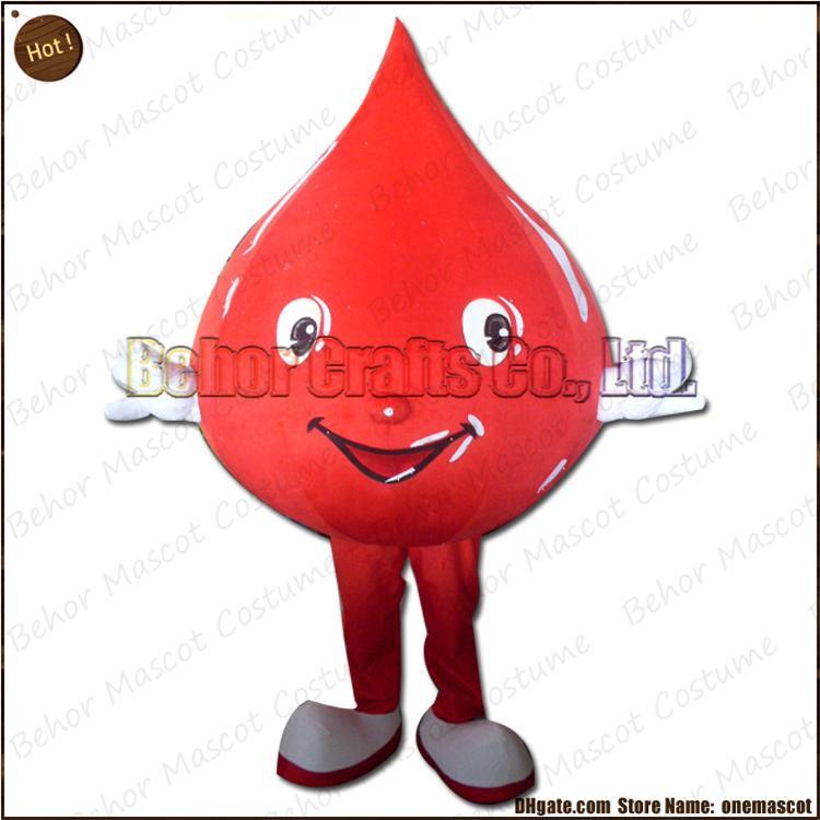 Blood drops mascot costume EMS free shipping, cheap high quality carnival party Fancy plush walking Water droplet mascot cartoon adult size.