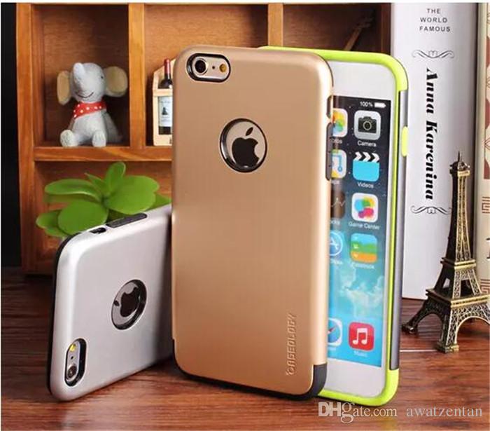 Per il caso di Iphone 5S lusso CASEOLOGY dura del PC + TPU copertura posteriore di Neo ibrida antiurto di protezione Shell Dual Layer Cellulare Bags5 5S 6S 6Plus