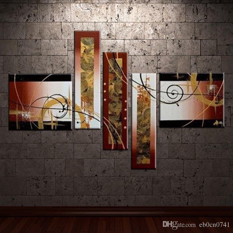 Hochwertige ölgemälde Moderne Schöne aussehen Abstrakte malerei Auf Leinwand Wandkunst Top Home Dekoration 5 teile / satz