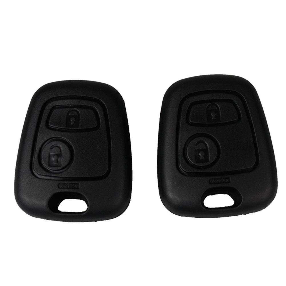 Guaranteed 100% 2PCS 2 Button Car Remote Key Shell key fob case shell covers For Citroen C1- C4 Peugeot 107 -407/206 -406 Free Shipping