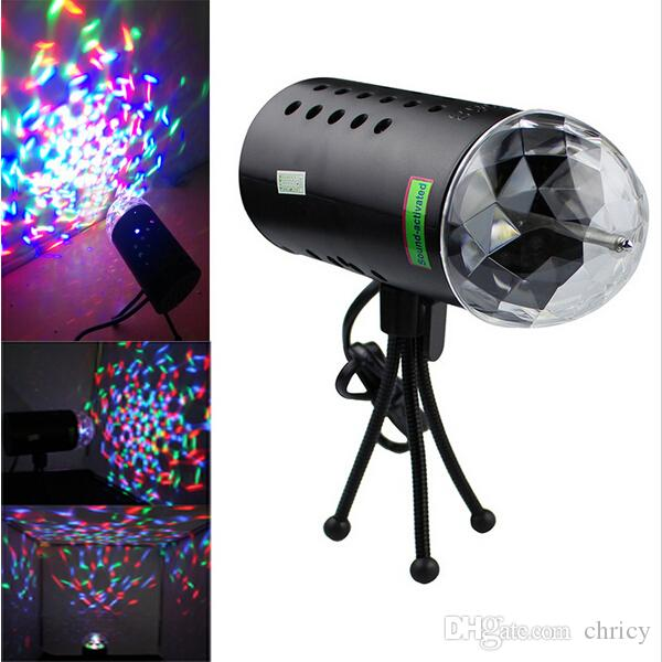 2016 new arrivals Voice Control LED Laser Stage Lamps Crystal Magic Ball Led Stage Effect Lamp Disco DJ Light Party Lights