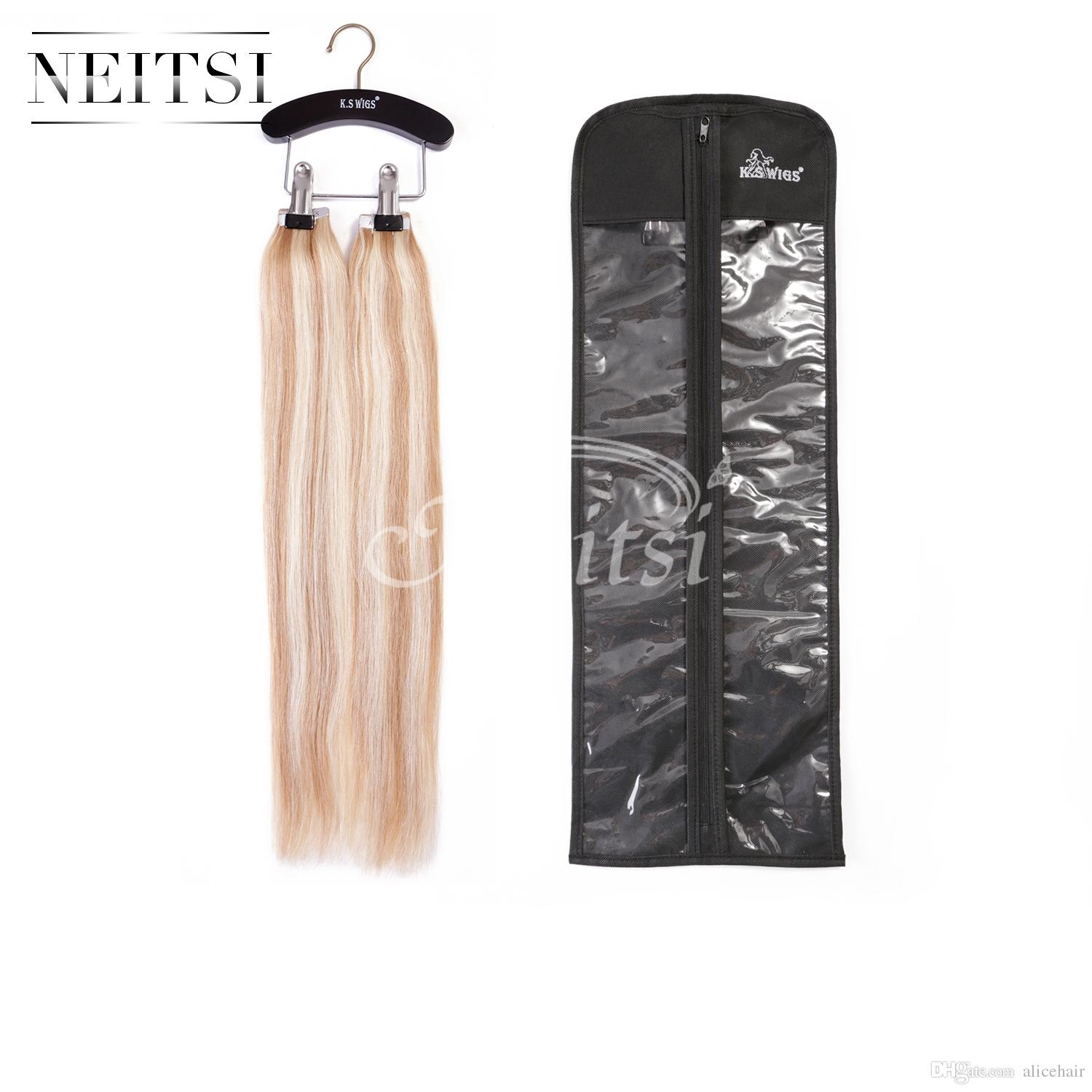 Neitsi Dustproof Wig Hair Extension Cover Bags Case With Wooden