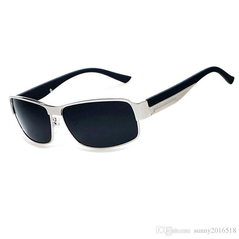 Fashion Sunglasses Polarized Sunglasses for Men Outdoor Sports Driving Sunglasses Casual Fishing Sun Glasses Big Square Metal Frame Eyewear