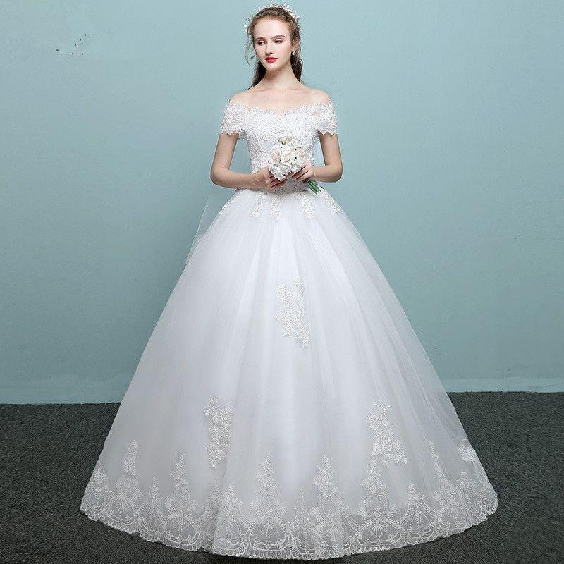 Discount Vestido De Novia Vintage Lace Wedding Dresses 2017 Boat ...