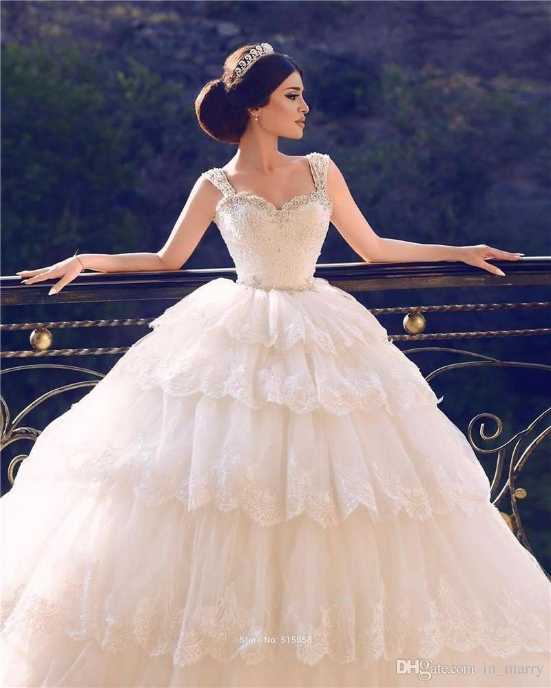 Luxury Crystals Ball Gown Turkey Nigeria Wedding Dresses 2017 ...