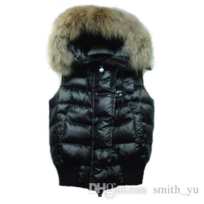 2017 Winter Down Hooded Vest for Women 5 Styles Fur Coat Slim Fashion Vests Female Brand Sleeveless Jacket Woman Hot Sale High Quality