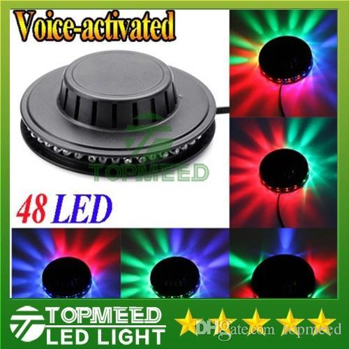 DHL Sunning Light RGB iluminação 48 leds Full Color LEVOU Luz de Palco de Cristal Auto Efeito de Estágio de Rotação DJ lâmpada mini Stage Lâmpada 200200