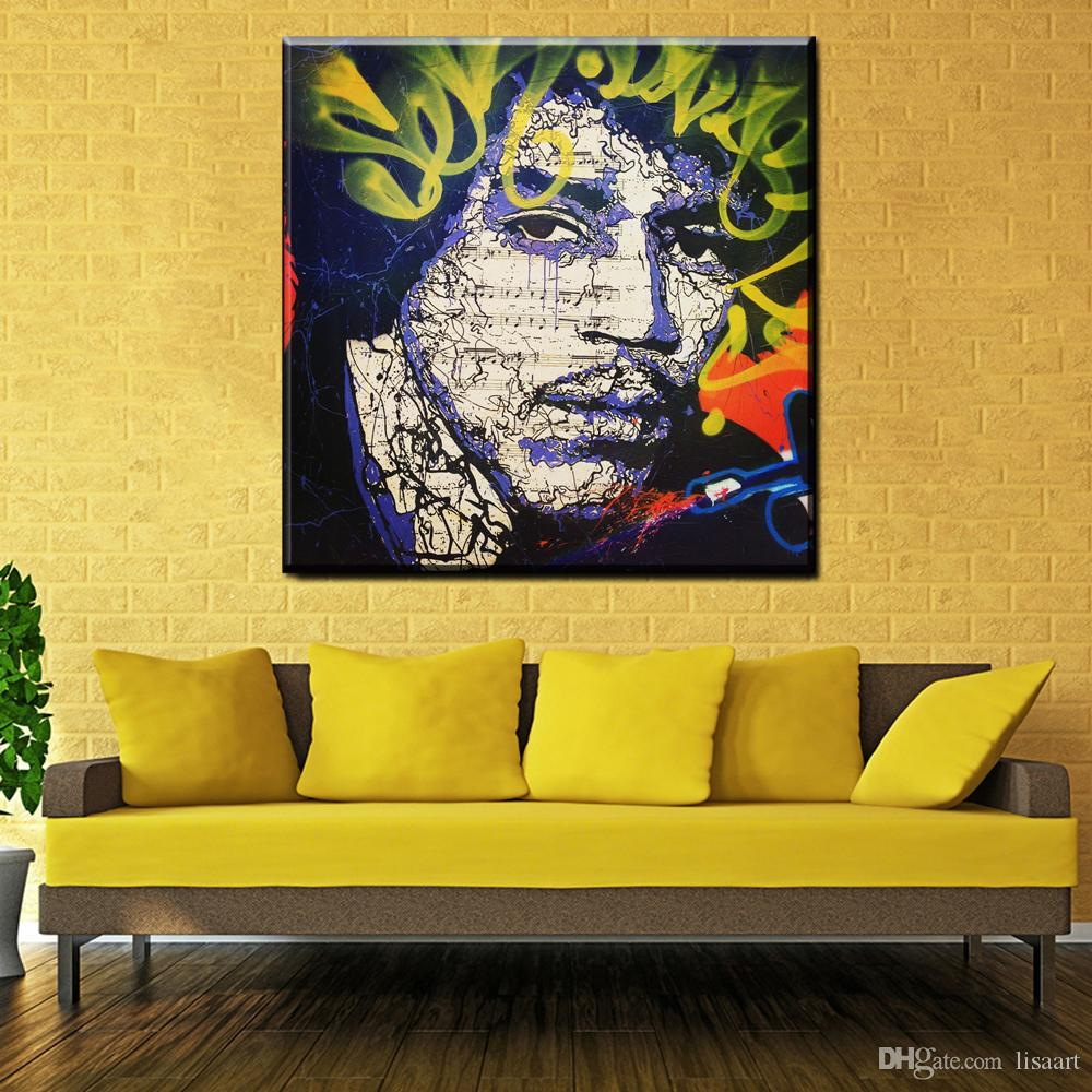 ZZ214 Free shipping pop artist Painting Richie Rich Graffiti Money ...