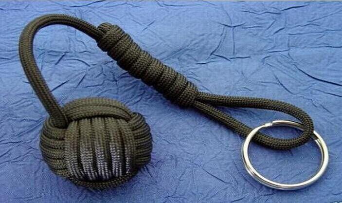 Freies Verschiffen Art und Weise billig Überleben Paracord Armband paracord Affe Faust keychain Kern Acryl (Kunststoff) Kugeln