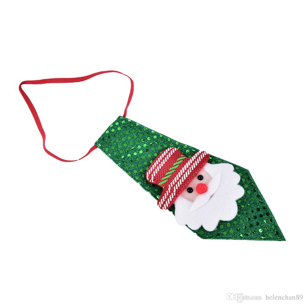 Snowman Christmas Tie Party Accessories Kids Christmas Party Dance Tie Gift