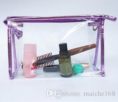 20 pcs Coréia pvc transparente saco de lavagem à prova d 'água saco de armazenamento de cosméticos saco grande capacidade
