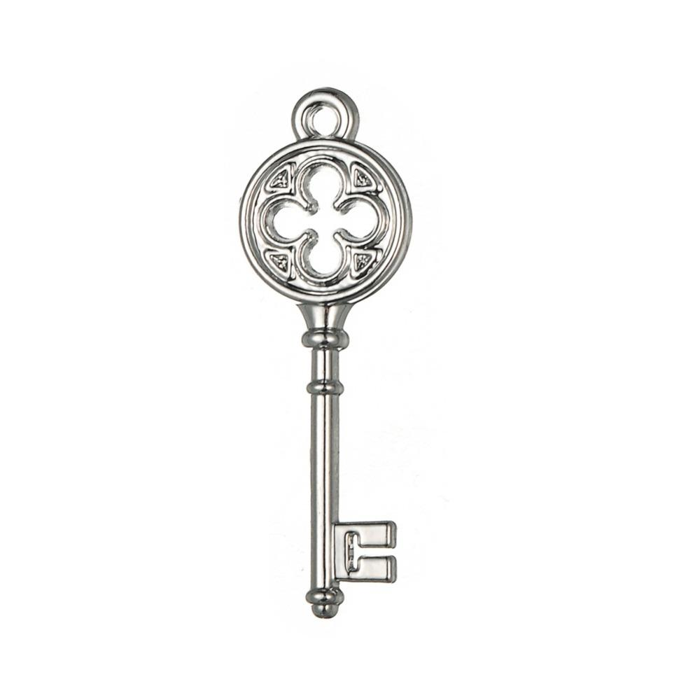 Silver Tone Vintage Style Love Key Floating Charms Endless Pendants Jewlery Wholesale lot 20pcs