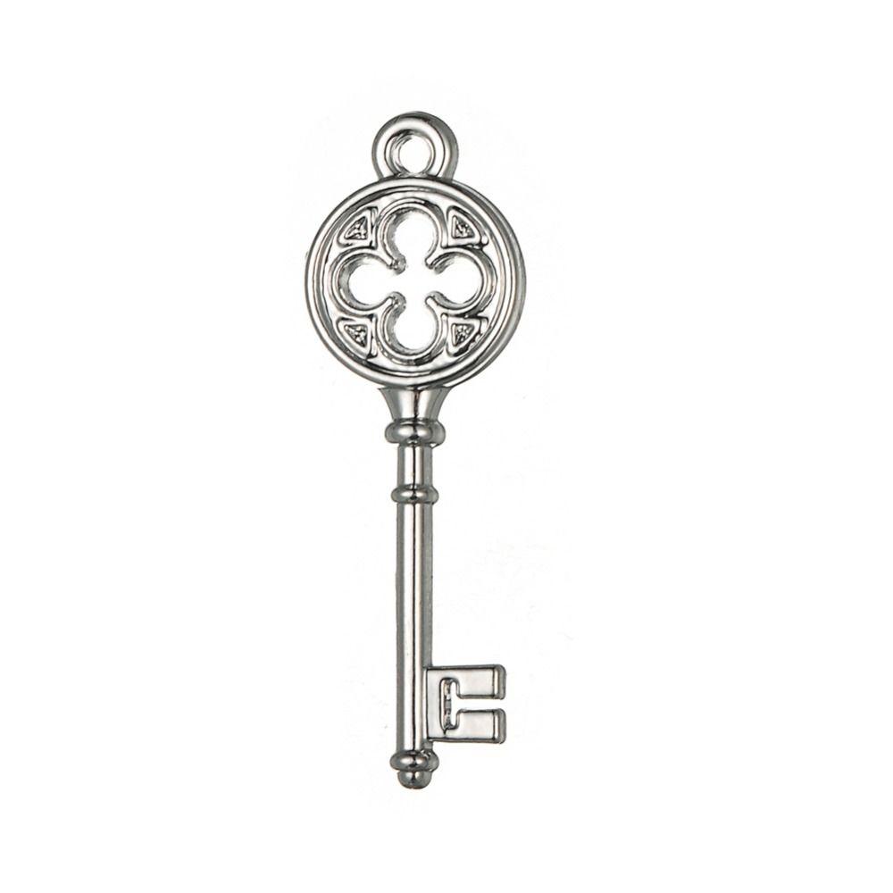 Pendenti senza fine di fascino di chiave d'amore di stile d'annata di tono d'argento Gioielli all'ingrosso lotto 20pcs