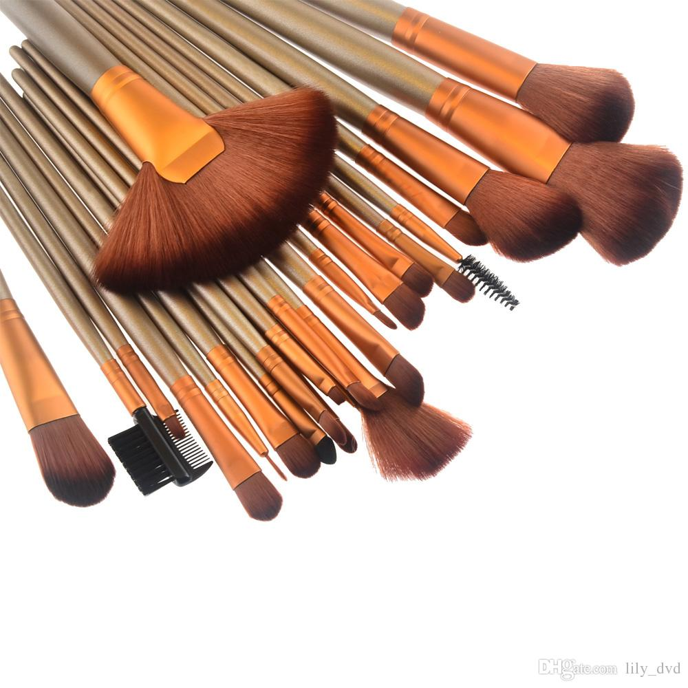 2016 HOT NEW Makeup Brushes Nude 3 24 piece Professional Brush sets Gold package