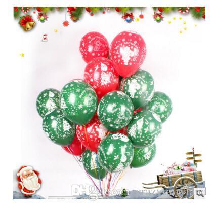 Balloon Christmas Decorations 12 inch Latex Cartoon Balloon Party Wedding Birthday Party Supplies Kids Toys DHL Free Shippin