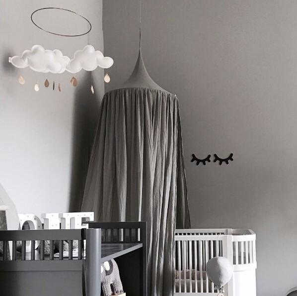Gross Beige Weiss Grau Rosa Kinder Jungen Madchen Prinzessin Baldachin Bett Volant Zimmer Dekoration