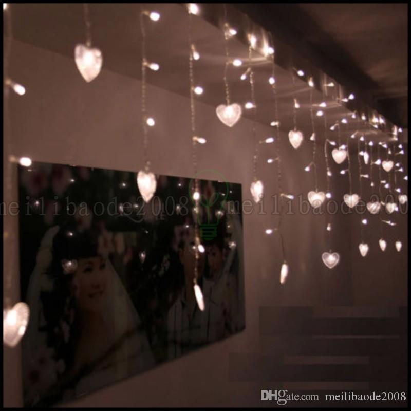 Acheter Nouveau Multi 3.5M 100SMD Coeur LED Rideau De Corde Lumières  Vacances De Noël Décor De Mariage LLWA221 De $13.07 Du Meilibaode2008 | ...