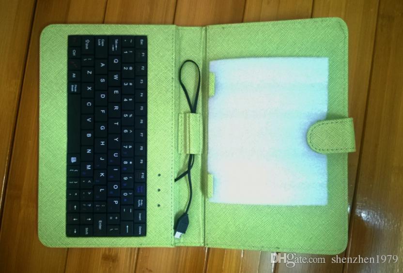 """7/9 polegada tablet pc pu suporte de teclado de couro case para 7/9 de polegada crianças tablet pc q88 a33 7 """"9"""" tampa do teclado case dhl"""