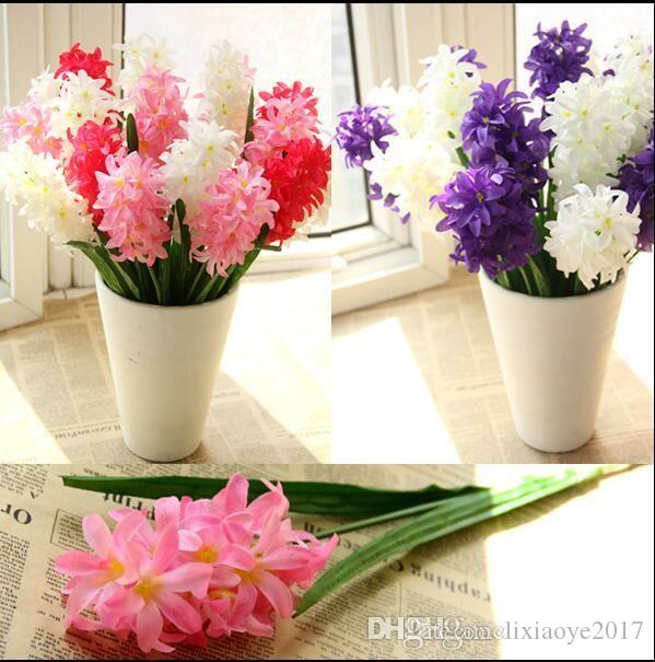 Online Cheap Silk Hyacinth Flower Artificial Solar Power Flowers For ...