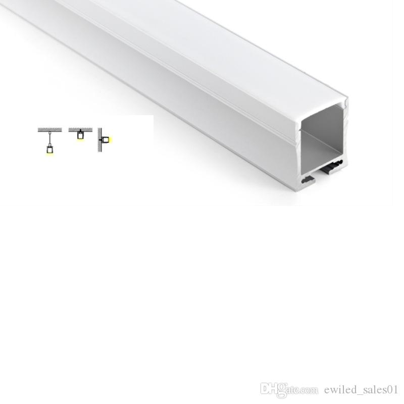 50 X 1M наборы / серия Встраиваемый стены привели алюминиевый профиль и 28мм глубиной U привело профиль канала для настенных или подвесных ламп