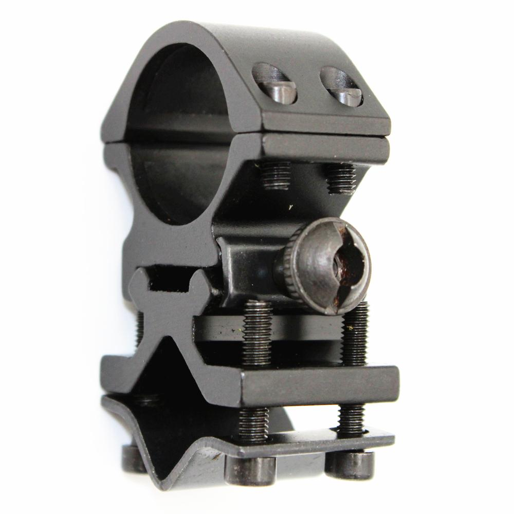 KC Fire Metal Rail Clip 25mm Ring 20mm Rail Gun Mount Tactical Flashlight Laser Torch Bracket for 501B C8 Hunting Flash Light