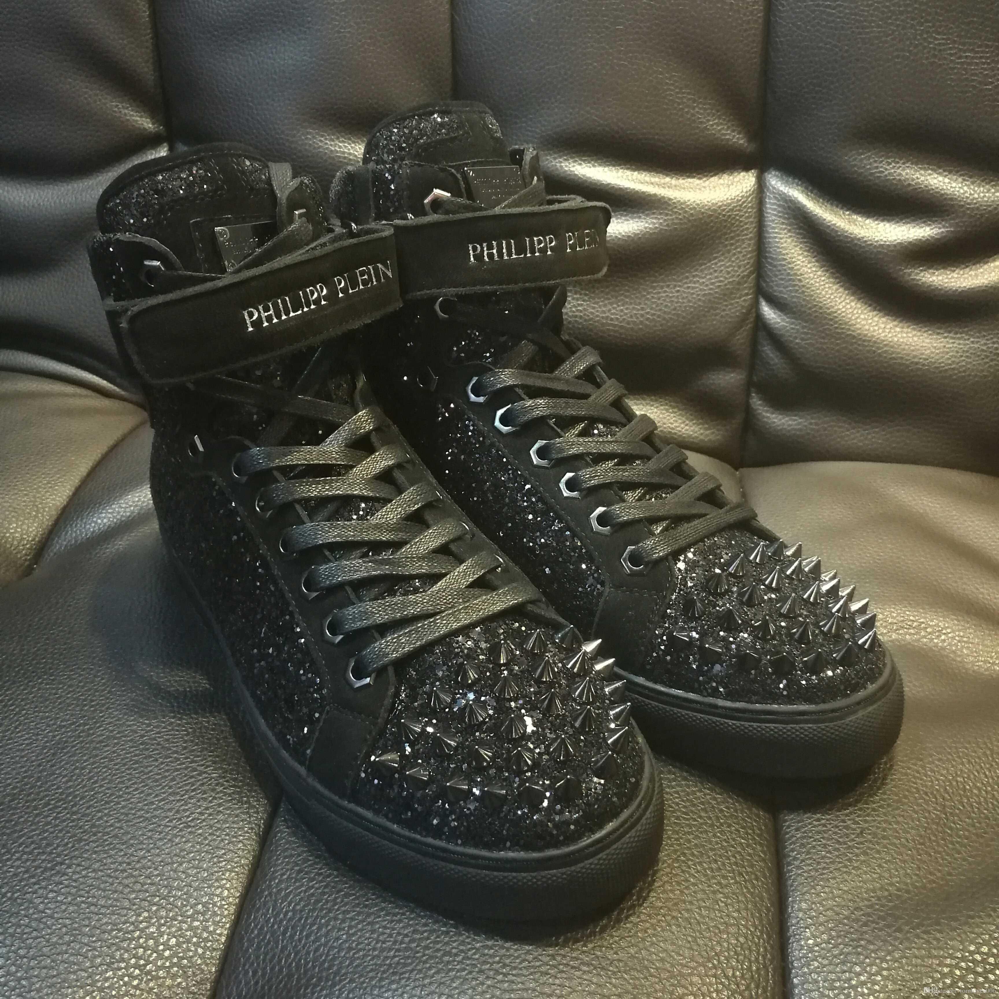 black high top designer sneakers