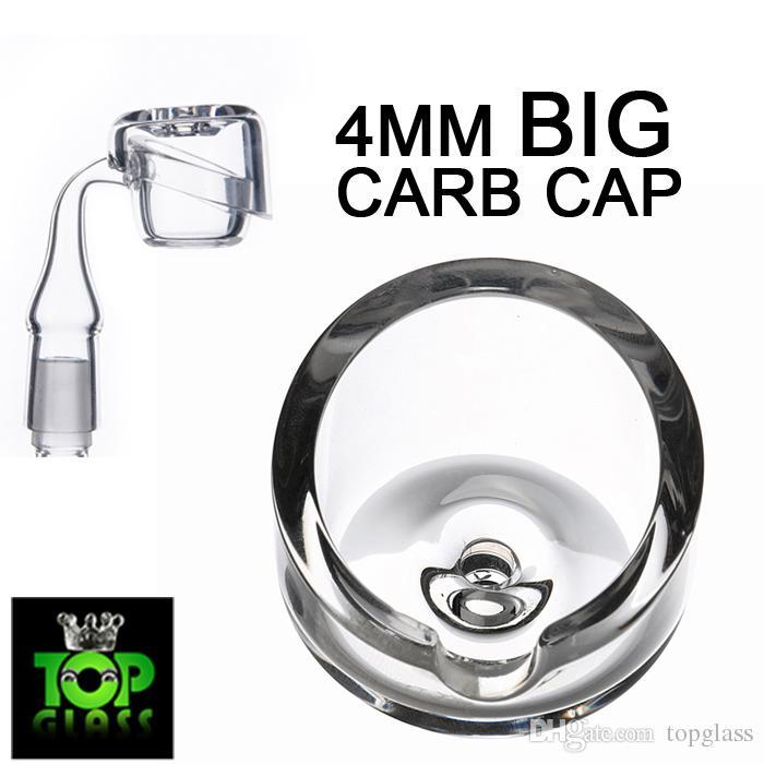 Nuovo arrivo al dettaglio 4mm di spessore big quarzo Banger Carb Cap per il nostro 2mm 3mm 4mm di spessore più grande ciotola quarzo Banger unghie