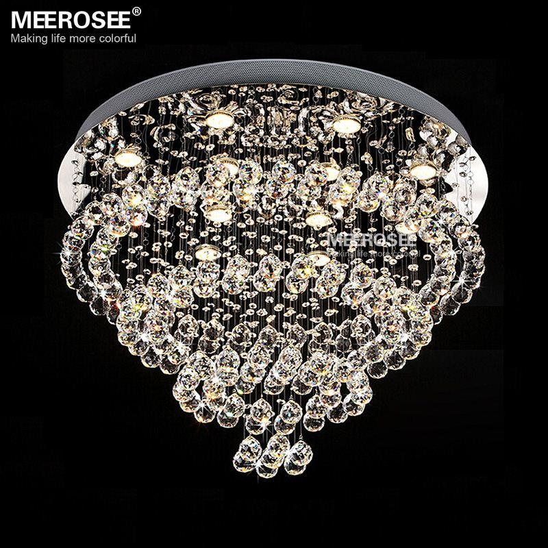 Modern Luxurious Crystal chandelier light Spiral Crystal suspension lustre lamparasde lamp cristal for staircase, stairs, foyer