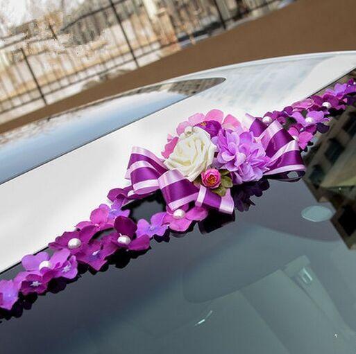 flower wedding car decoration wedding car ribbon decoration chinese wedding car decoration