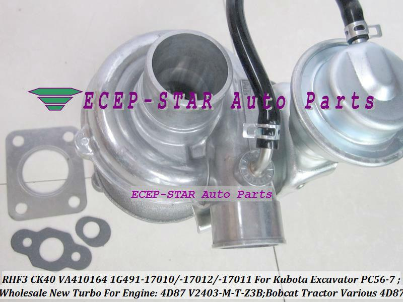 Turbocompresseur de Turbo de RHF3 CK40 1G491-17011 1G491-17012 1G491-17010 Turbo pour l'excavatrice de Kubota PC56-7 bobcat Tracteur 4D87 V2403-M-T-Z3B