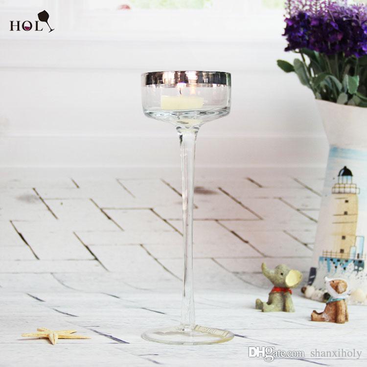 Langer Glasrand Kerzenhalter aus Glas