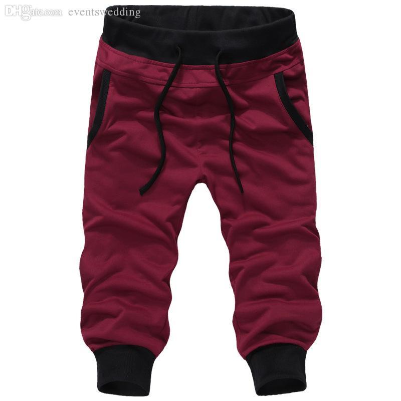 Оптовая торговля-мужские бегун новые случайные спортивные брюки свободные мужские брюки гарем спортивные брюки 5 цветов M-XXXL pantalon homme открытый грузовые брюки
