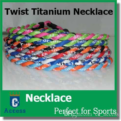 "Sports de baseball de camouflage de football 2 cordes Titanium de nombreuses couleurs Collier TORNADO 18 ""20"" 22 """