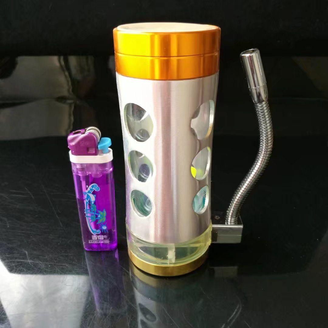 Pot en acier inoxydable Yajun de haute qualité, bongs en verre, narguilé en verre, accessoires pour tuyaux de fumée