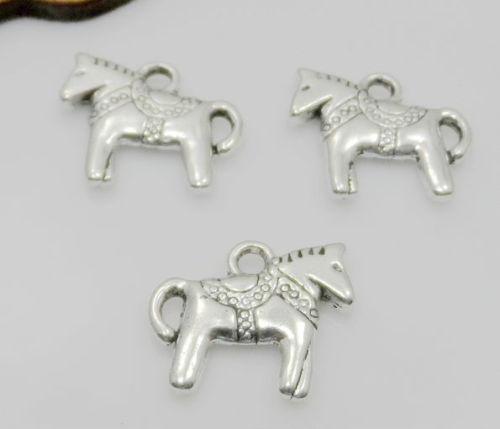 300Pcs pendentif en argent tibétain cheval charmes pour la fabrication de bijoux bracelet 14x12mm