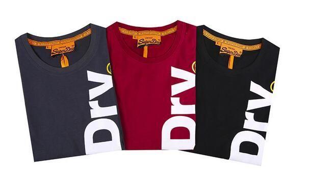 9c91ec67a89 ... Hot Summer SUPER DRY men s cotton Vintage Logo T shirts Fashion crew  Neck Graphic Tee men