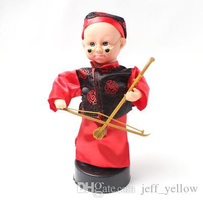 Ücretsiz kargo çocuk elektrikli Erhu oyuncaklar Kör Bing Kostüm küçük çocuk bebek Ses Oyuncaklar müzikal komedi