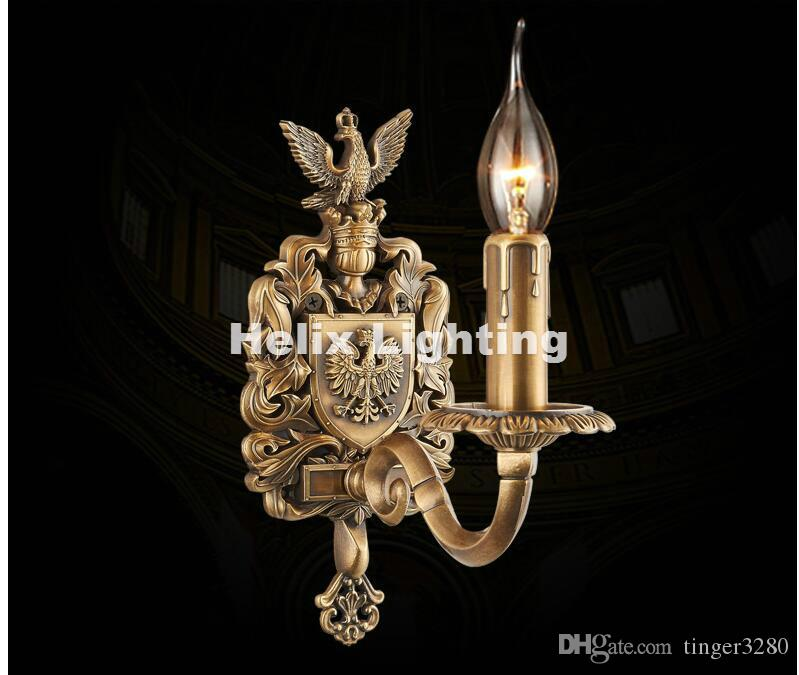 Free Shipping W11cm H24cm Antique Brass E14 LED Wall Lamp Living Room Wall Light Lamparas de pared applique murale Luminaire