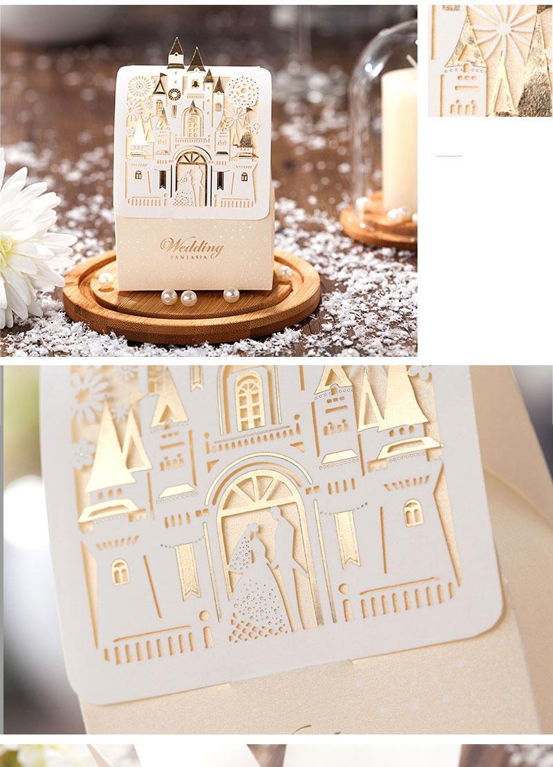 Original Romantic Laser Cut Paper Wedding Candy Box Favor Sugar Case ...