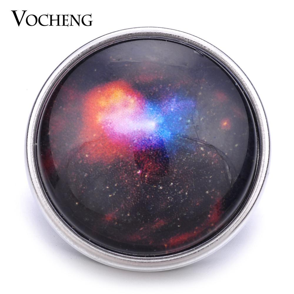 VOCHENG NOOSA Vente en gros 18mm Nuit étoilée Ciel Verre Snap Charme Bijoux Vn-1171