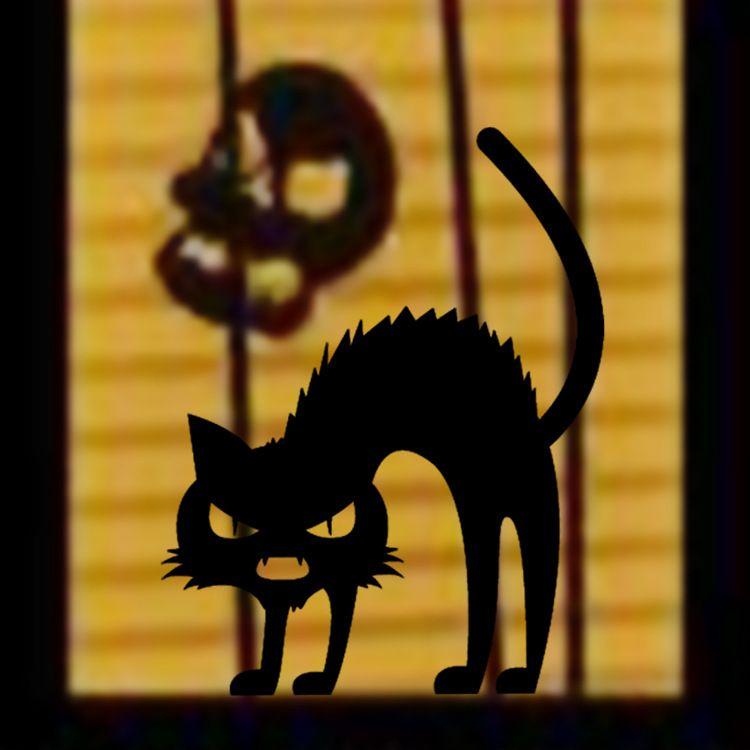 Черные Кошки Слова Стены Наклейки Хэллоуин Окно Стекло Декор Стены Аппликация Фестиваль Ужасный Кот Обои Плакат Стены Графический Декор Искусства