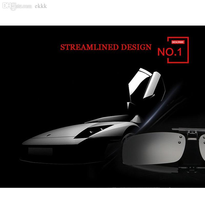 Großhandels-Quadrat polarisierte Klipp auf Sonnenbrille mit Kasten-Qualitäts-Schlag oben Sitz über Gläsern Sonnenbrille-Mann-Frauen-Antivisier UV400 801