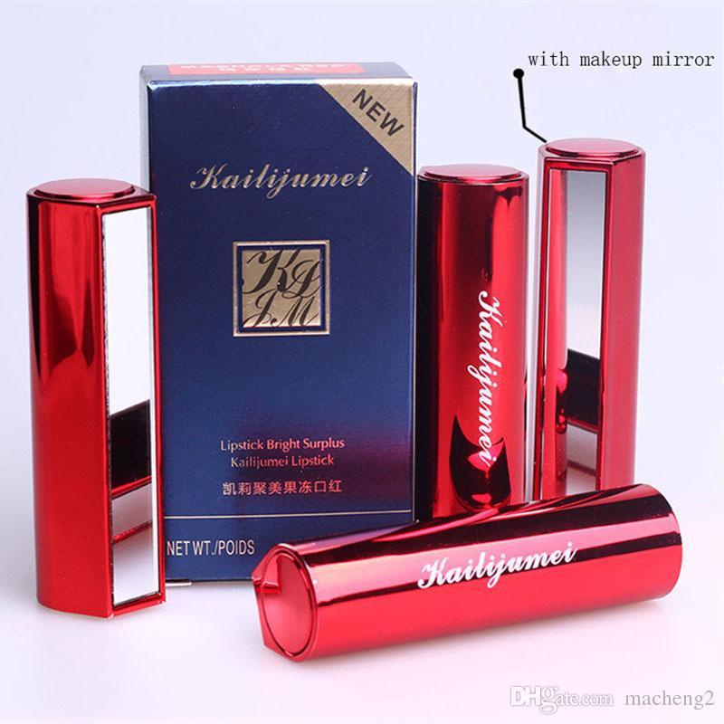 4pcs Jelly KAILIJUMEI Lipstick Lip Makeup Temperature Change Moisturizer Flower Lipgross Kailijumei Double Nursing,100%Original, Hotsale